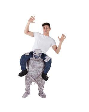 Huckepack Kostüm Mumie für Erwachsene