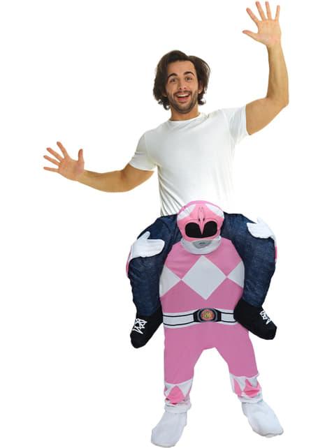 Déguisement porte-moi Power Ranger rose adulte
