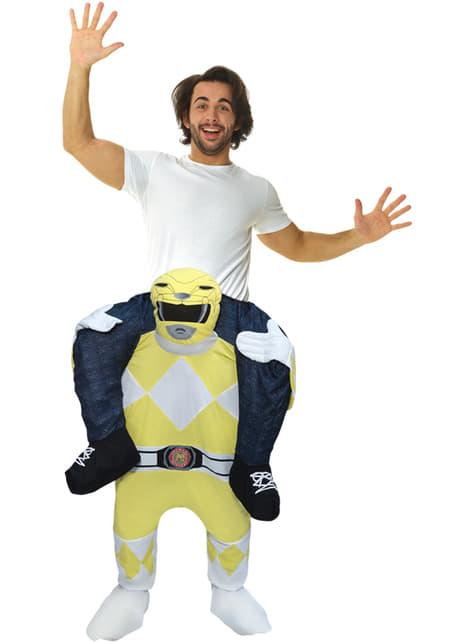 Déguisement Power Ranger jaune porte-moi adulte – Power Rangers Mighty Morphin
