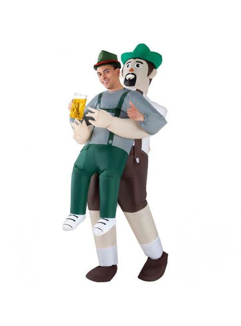 Opblaasbaar Duits Oktoberfest Pak Mij Op kostuum voor volwassenen