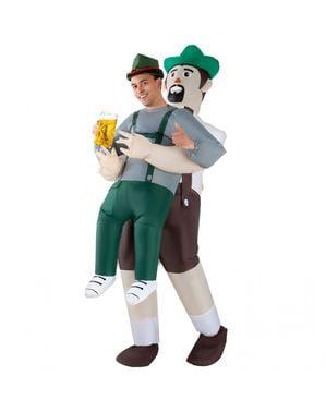 Fato de alemão Oktoberfest insuflável Pick Me Up para adulto