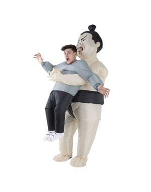 Надуваем сумо борец Pick Me Up костюм за възрастни