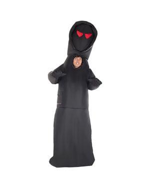 Надувний костюм людини з капюшоном з червоними очима для чоловіків