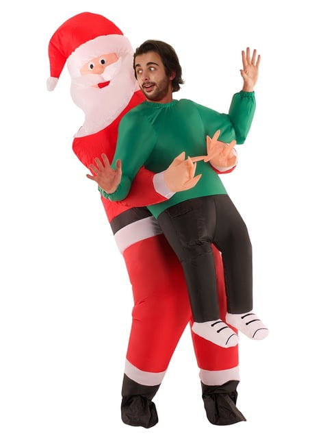 Disfraz de Papá Noel Pick Me Up hinchable para adulto