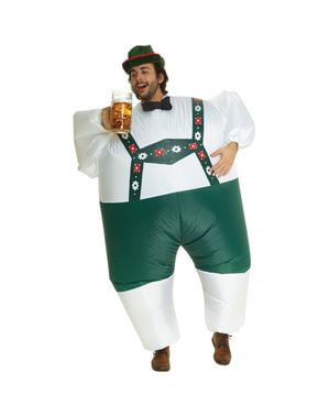 Oppblåsbart Tysk Oktoberfest kostyme til voksne