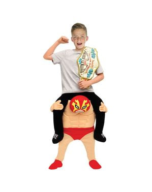 Mexican Wrestler Piggyback Costume for Kids