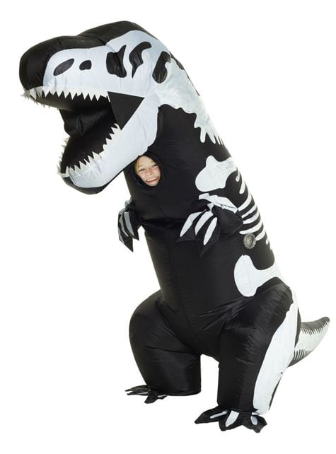 Disfraz de esqueleto de T-Rex hinchable infantil