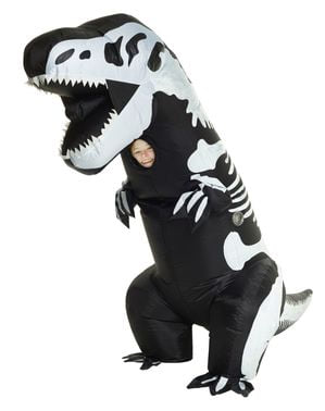 Inflatable T-Rex Skeleton Dinosaur Costume for Kids
