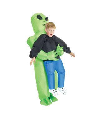 Aufblasbares Alien Pick Me Up Kostüm für Kinder