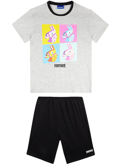 Pijama Fortnite cinzento infantil