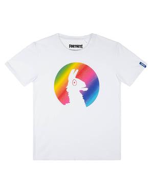 Kaos Putih Fortnite Rainbow Llama