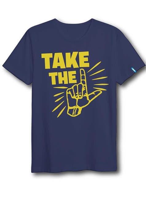 성인용 Blue Fortnite Dab 댄스 티셔츠