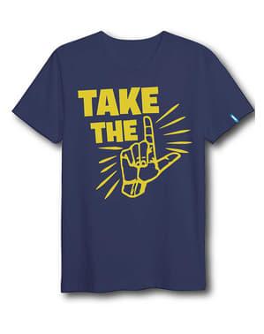Blue Fortnite Dab Dance T-Shirt untuk Dewasa