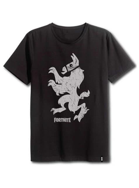 Black Fortnite Stand-Up Llama T-Shirt for Adults