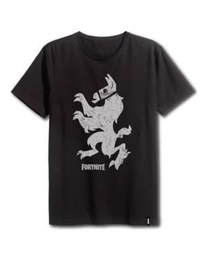 Svart Fortnite Stående Llama T-Skjorte til Voksne