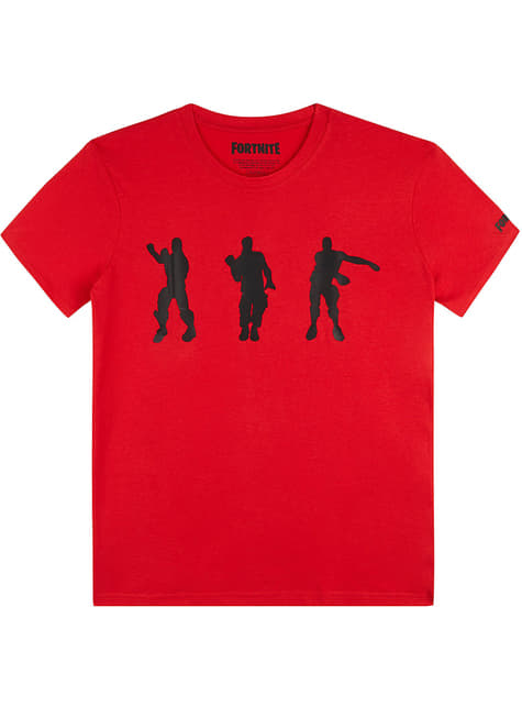 T-shirt Fortnite Dancing vermelha infantil
