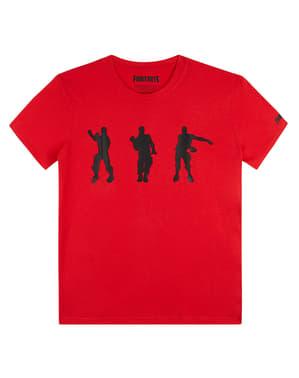 Rød Fortnite Danse T-Shirt til Børn