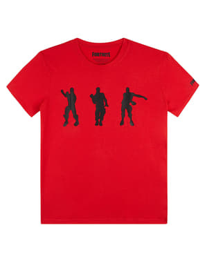 T-shirt Fortnite Dancing rossa per bambino