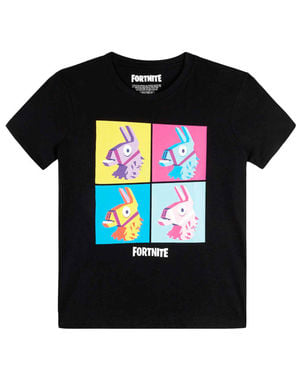 Black Fortnite Llama T-Shirt for Kids