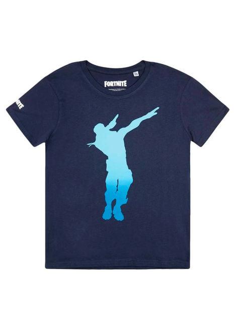 T-shirt Fortnite Dance azul infantil