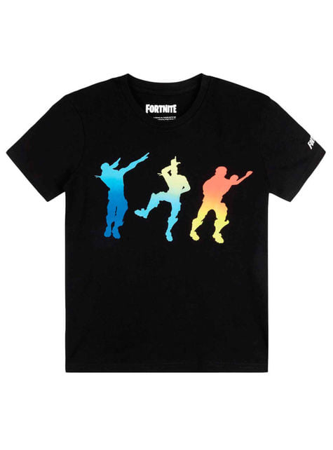 Camiseta Fortnite Dancing negra infantil