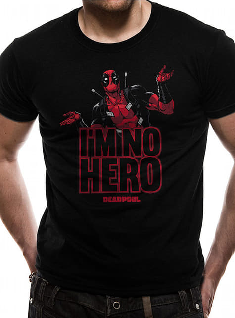 T-shirt de Deadpool I'm No Hero para homem