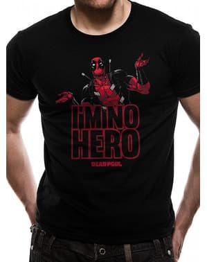 Deadpool I'm No Hero T-Shirt untuk Pria