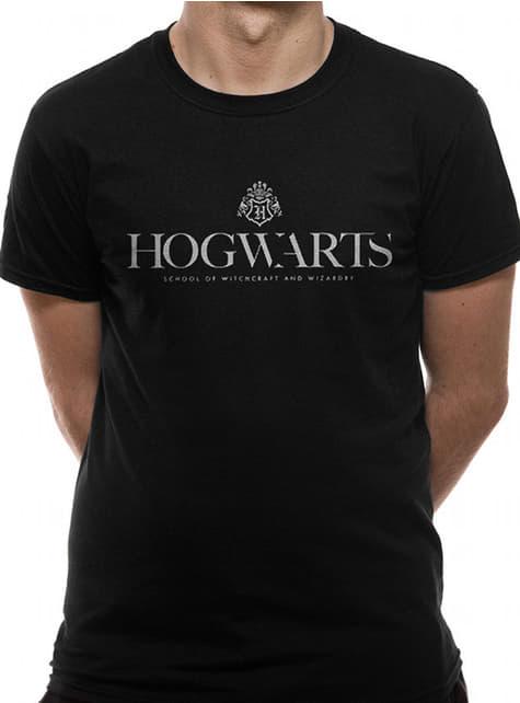 Camiseta de Hogwarts negra para hombre - Harry Potter
