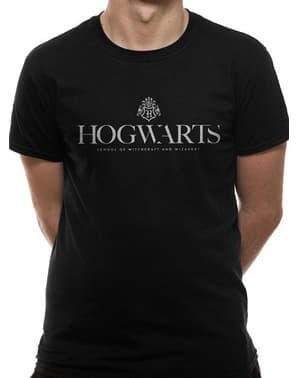पुरुषों के लिए ब्लैक हॉगवर्ट्स टी-शर्ट - हैरी पॉटर
