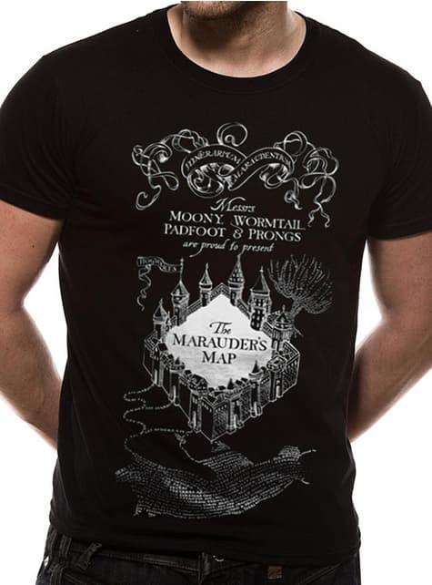 Camiseta de Mapa del Merodeador negra para hombre - Harry Potter