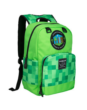 Zaino Minecraft Miner's Society verde