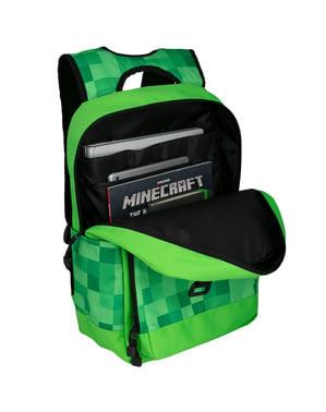 Ghiozdan Minecraft Miner's Society verde