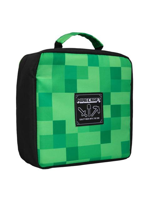 Lancheira Minecraft Miner's Society verde