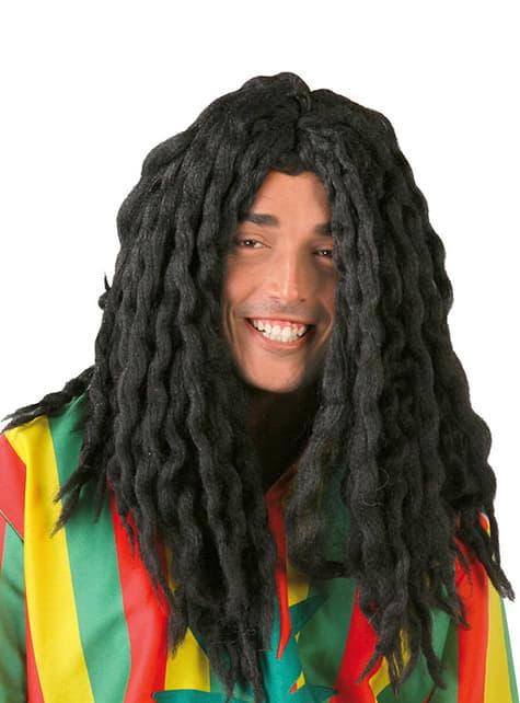Czarna peruka Rastafarianin Jamajka