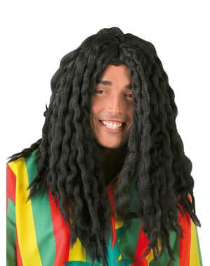 Peruca rastafari jamaicano preta