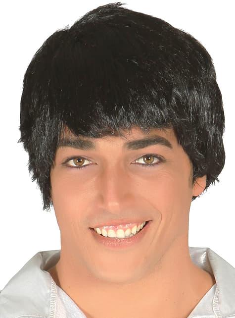 Czarna peruka dla mężczyzn