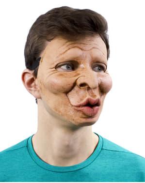 Máscara de hombre besucón para adulto