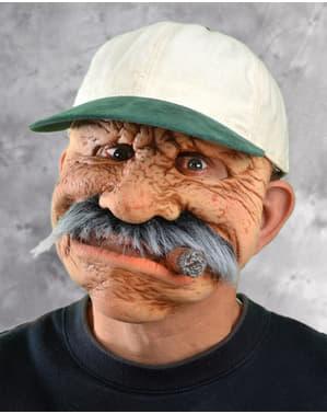 Mască de bătrân cu trabuc pentru bărbat