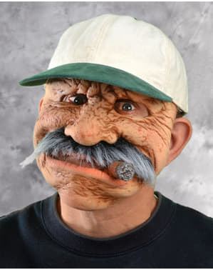 Maschera da anziano con sigaro
