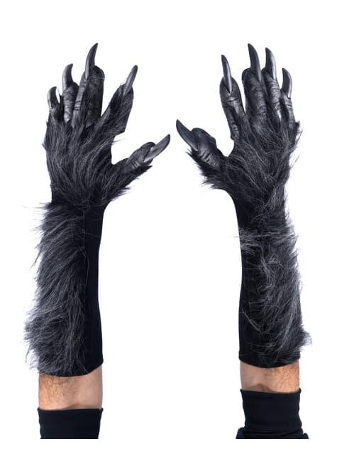 Guantes de hombre lobo gris para adulto