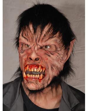 Máscara de lobisomem sangrento para homem