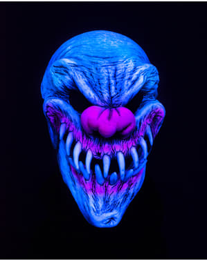Last Laugh UV Clown Mask for Adults