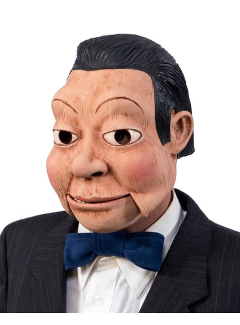 Máscara de muñeco ventrílocuo para hombre