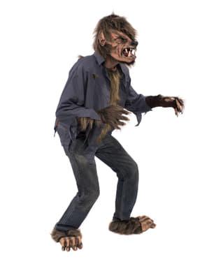 Disfraz de hombre lobo marrón para adulto