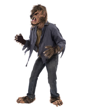 Brązowy kostium Wilkołak dla dorosłych
