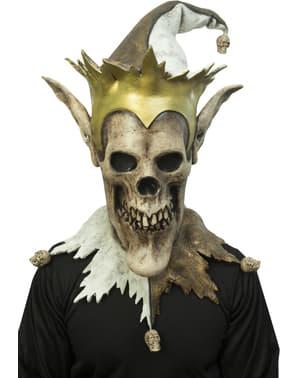 Máscara de bufón del inframundo para adulto