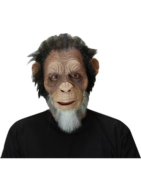 Máscara de chimpancé anciano para adulto