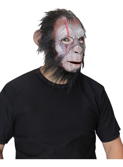 Maska Szympans Wojownik dla dorosłych