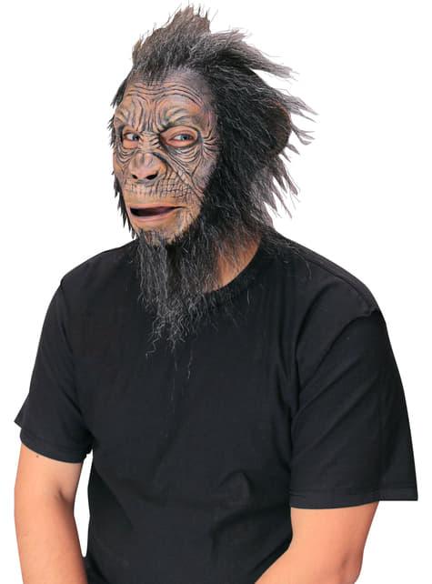 Máscara de chimpancé con melena para adulto