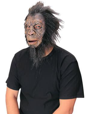 Schimpansen Maske mit langer Mähne für Erwachsene